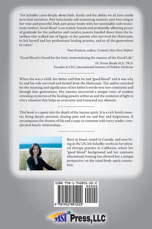 Good Blood: A Journey of Healing: Irit Schaffer: 9781942891222