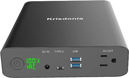 Amazon.com: Krisdonia AC Power Bank Negro cargador de ...