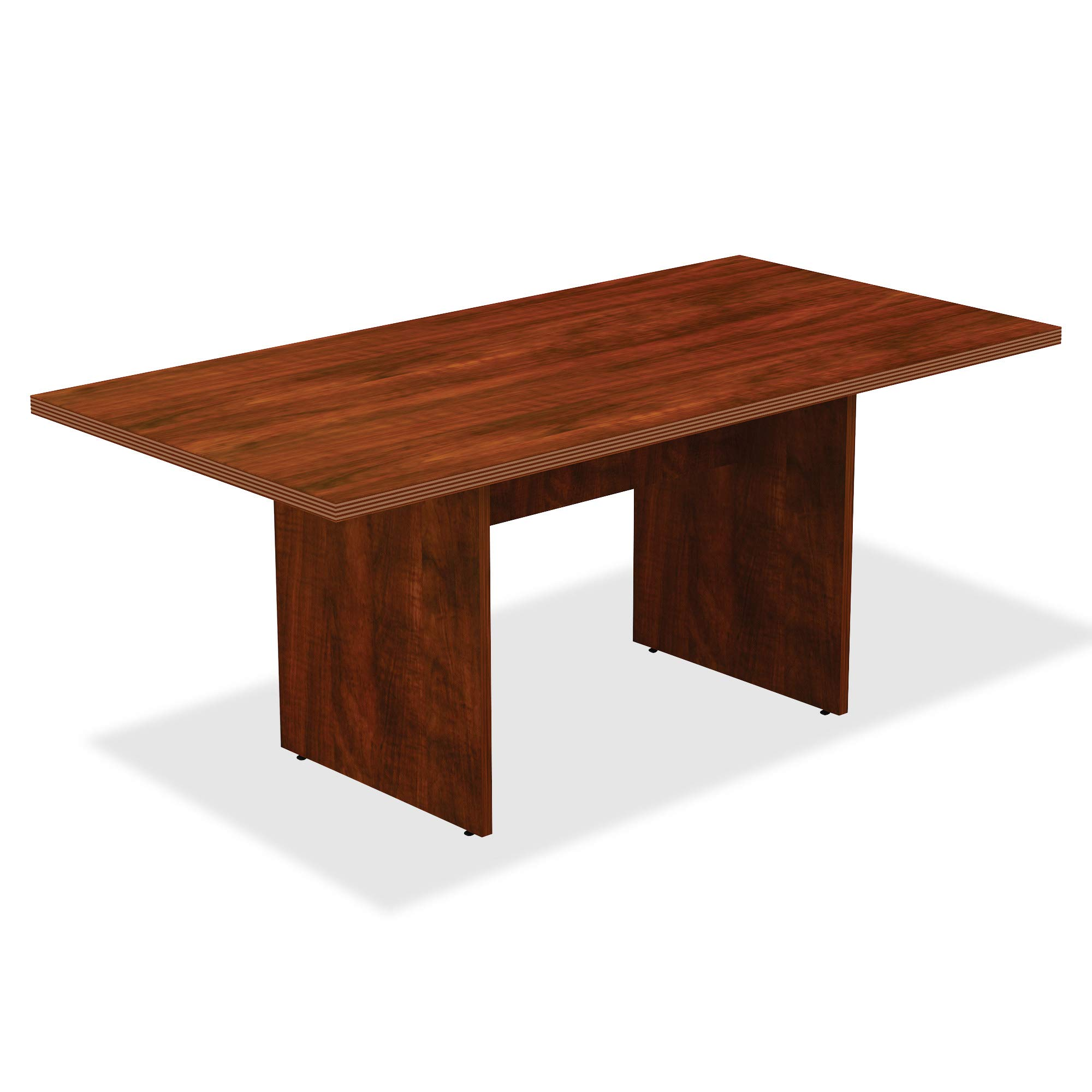 Lorell 34376 Chateau Conference Table, Cherry Laminate
