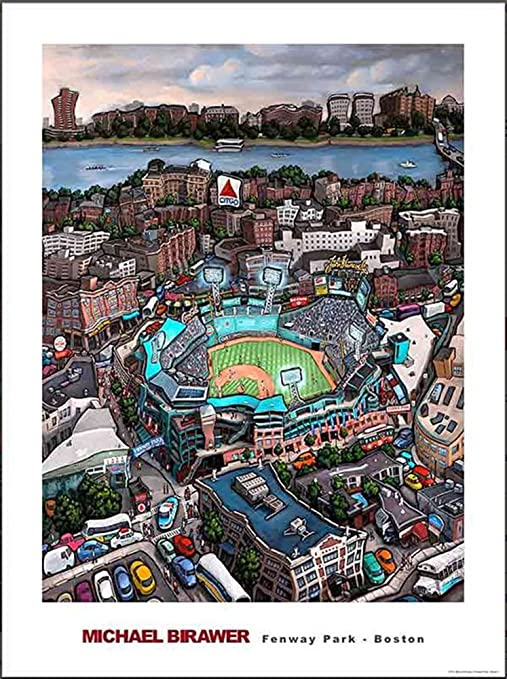 Amazon Com Michael Birawer Paintings Fenway Park Poster Print 32x24 Posters Prints