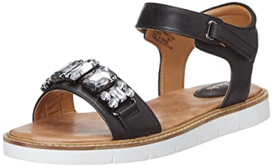 Clarks Women's Lydie Joelle Leather Fashion Sandals Fashion Sandals at amazon