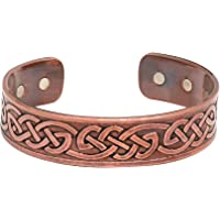 Art of Creation Pure Copper Magnetic Bracelets Cuff Healing Therapy Handmade Cuff Beautiful Antique Look Adjustable For…