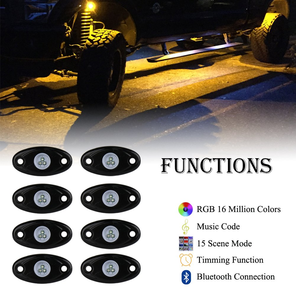 MOVOTOR Led/Off Road/Light/Bar Jeep/Work/Light Led Driving/Lights/with White Halo DRL for/Trucks SUV ATV Jeep Boat