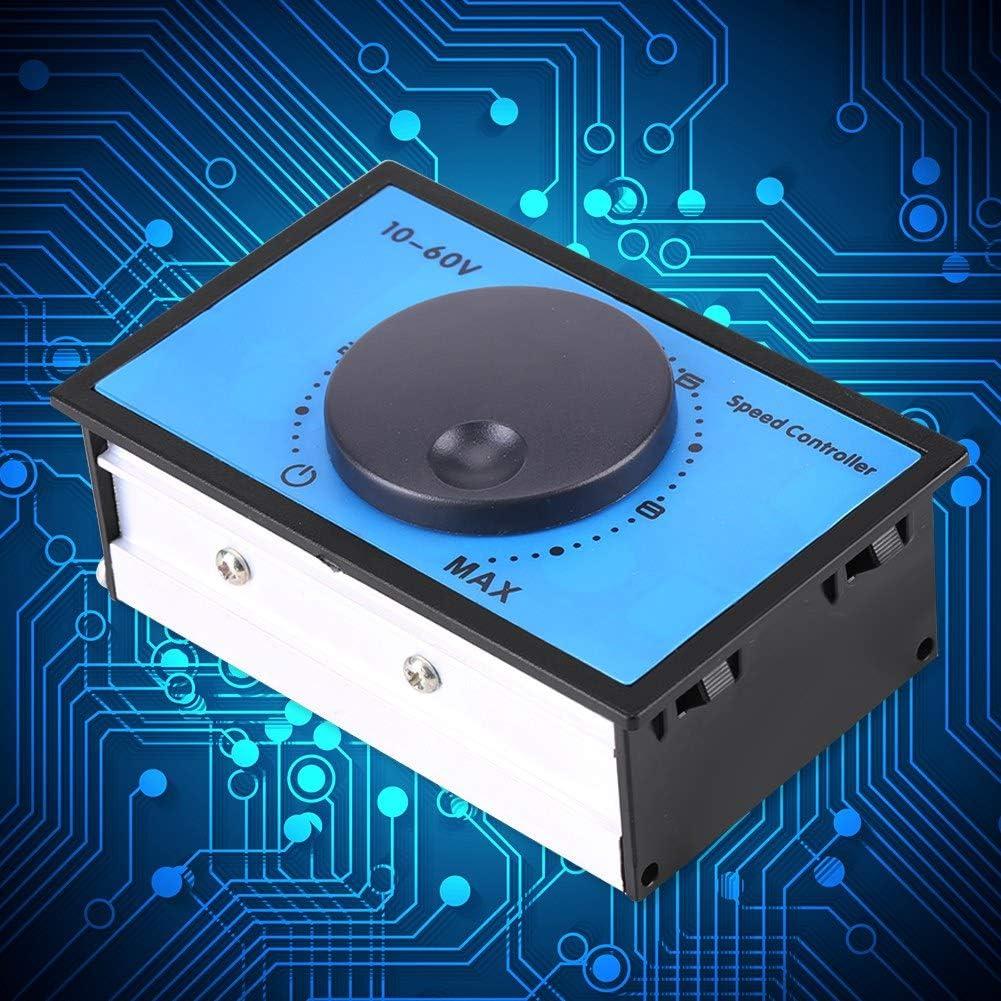 20A 10-60V 12V 24V 36V 48V PWM DC Motor Speed Controller Regulator Switch Module with Low Voltage DC Motor Controller Stall and Over-Current Protection
