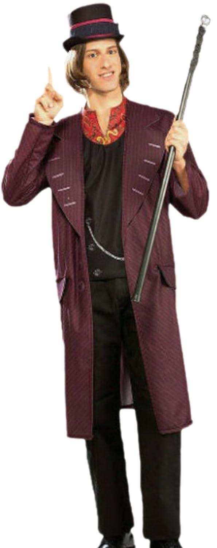 Confettery - Herren Willy Wonka, Charlie und die Schokoladenfabrik, Kostüm, XL, Rot