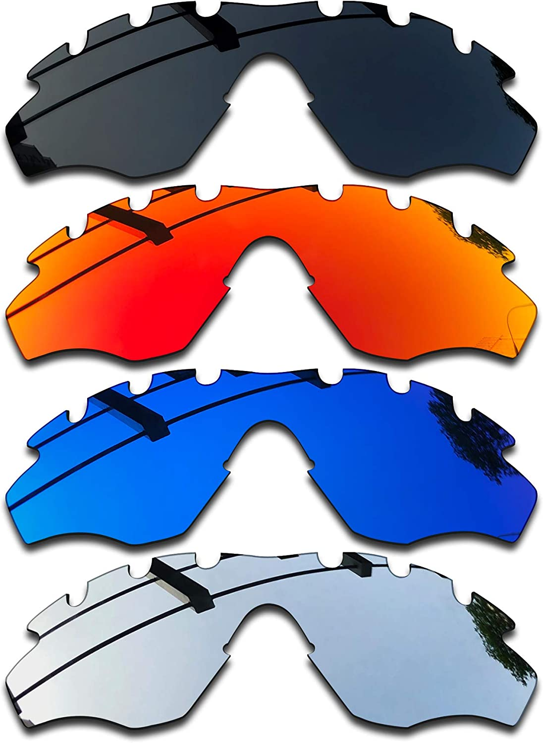 SEEABLE Premium Polarized Mirror Replacement Lenses for Oakley M2 Frame XL Vented Sunglasses
