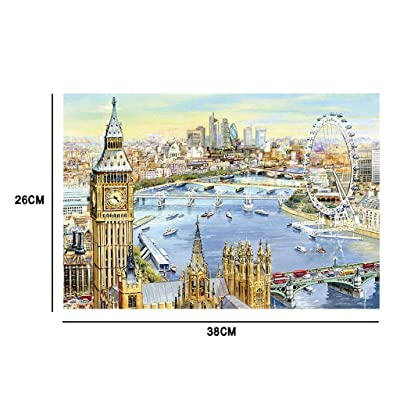 Jigsaw Puzzles 1000 Pieces Puzzles for Adults Children London Painting, Landscape Pattern 38x26 cm / 15 x 10.2 inch Puzzles For Adults or Kids 8 and up Ages: Home Improvement