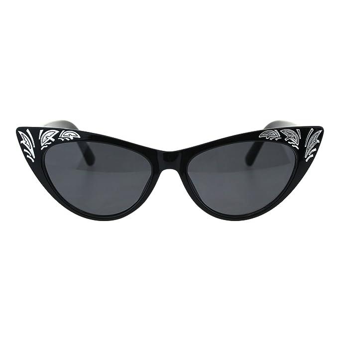 Amazon.com: Para mujer ojo de gato gótico Bling grabado Diva ...