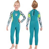 MWTA Wetsuit for Kids Boys Girls 2.5mm Neoprene Thermal Swimsuit Fullsuit Wet Suits Long Sleeve for Toddler Child Junior…