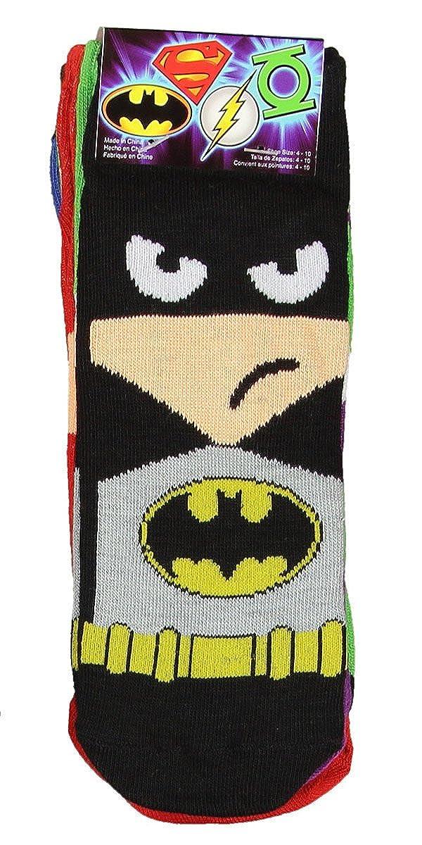 57092b2eae4d DC Comics Mens Superhero Cartoon Character Socks 5 Pair at Amazon Men's  Clothing store: