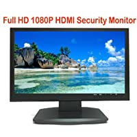 "101AV Security Monitor 21.5"" True Full HD Monitor 1920 x 1080 HDMI VGA and Looping BNC outputs LED Wide Screen Audio Video Display Built-in Speaker for DVR (21.5 Monitor 3D Comb Filter)"