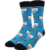 HAPPYPOP Novelty Dress Socks Crazy Funny Animal Cat Dog Golf Space Causal Crew Cotton Socks Men