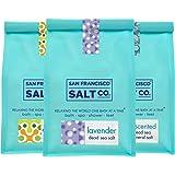 Dead Sea Mineral Bath Salt Variety 3 Pack: Pure Dead Sea Salt, Lavender Dead Sea Salt and Eucalyptus Dead Sea Salt (1.75 lb bag of each) by San Francisco Salt Company