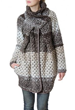 71efda0984d9 CASPAR MTL007 Damen Winter Mantel, Farbe braun Größe One Size ...