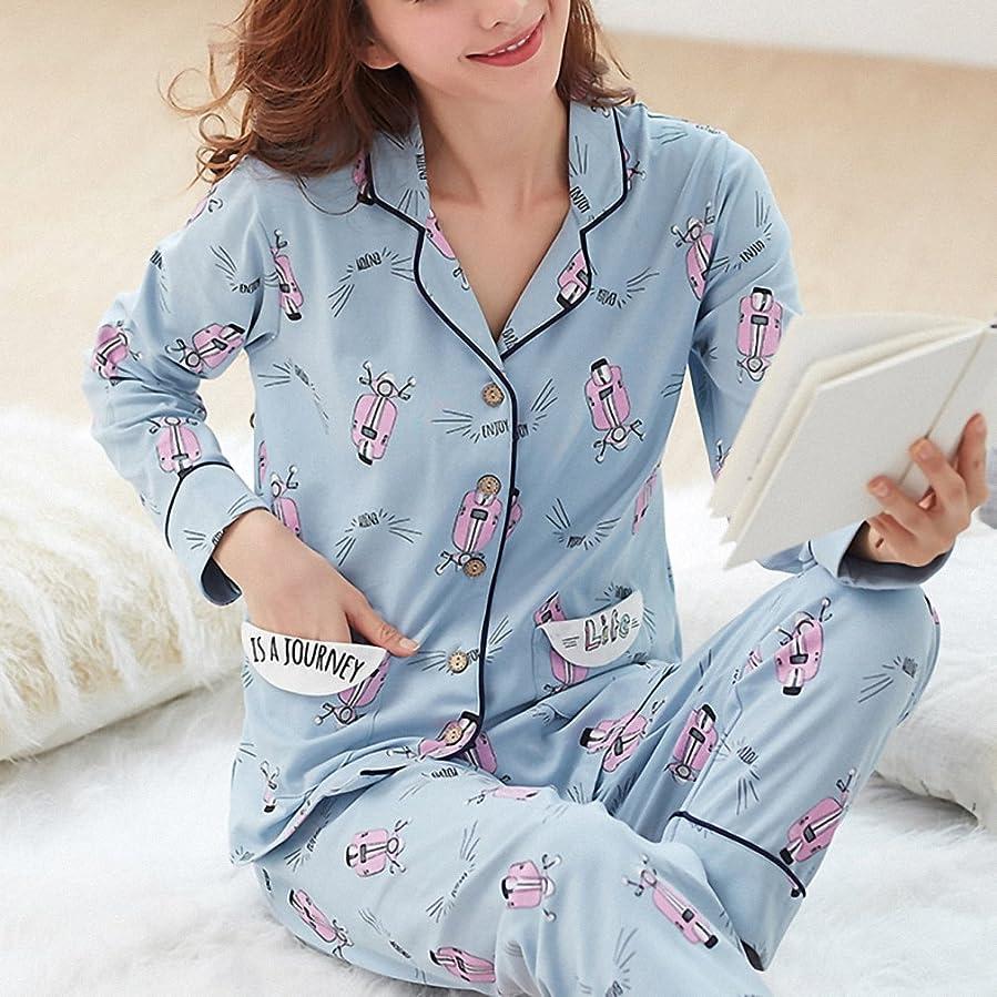 Drop Shipping Casual Cotton Pajama Set Women Autumn Winter Long Sleeve Sleepwear Pajamas Nightwear Lounge Home Clothing at Amazon Womens Clothing store:
