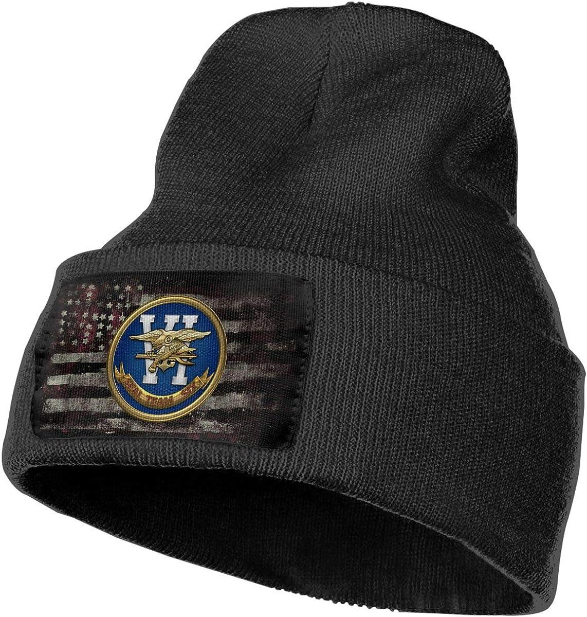 US Navy Seal Team Six Mens Beanie Cap Skull Cap Winter Warm Knitting Hats.