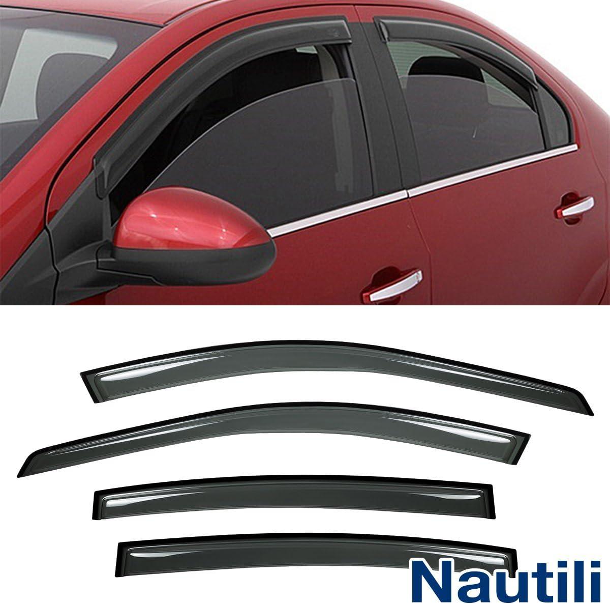 Laprive Auto 4pc Sun//Rain Guard Window Deflector Fit 07-11 Camry 4D//4DR Sedan JDM Vent Shade Window Visors