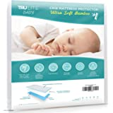 Baby Crib Mattress Protector Pad - The Softest Bamboo Rayon Fiber Quilted Terry - Waterproof & Hypoallergenic - Protect from Dust Mites & Mold - TRU Lite Bedding Crib Size