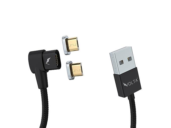 Volta Cargador en ángulo Recto Micro USB a USB A, Cargador ...