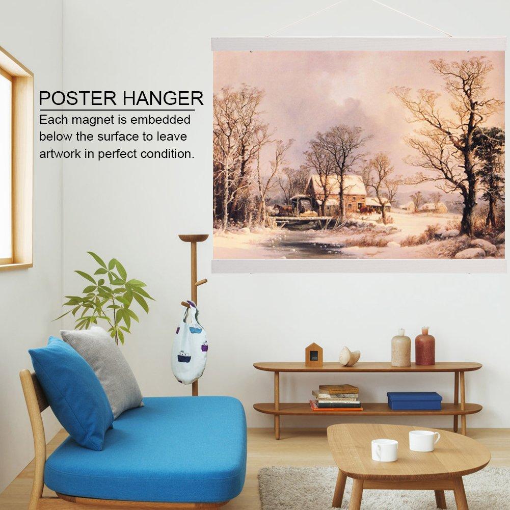 Telaio di pittura magnetica in legno per poster di Hangers di DIY per la decorazione su misura della parete della casa 40cm
