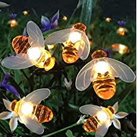 Semintech Solar String Lights with 20LED Outdoor Waterproof Simulation Honey Bees Decor for Garden Xmas Decorations Warm…