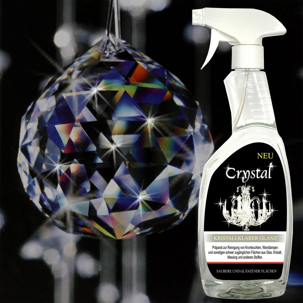 'Crystal' Spezial Reiniger 750ml für Kronleuchter, Lüster, Wandlampen, Candelaber Lüster AMBROS® - Kristall