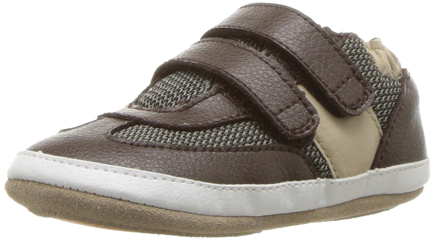 Robeez Boys' Sneaker-Mini Shoez Crib Shoe, Active Alex-Brown, 18-24 Months M US Infant