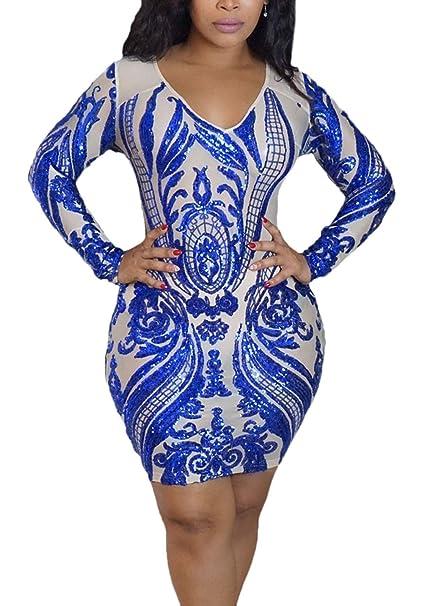 92ded7ff45cb7 Vestiti Donna Primaverile Autunno Tubino Vestiti Eleganti Stampa Fiore  Ragazza Fashion Mini Vestiti alla Moda Maniche Lunghe con Paillettes  Brillantini ...