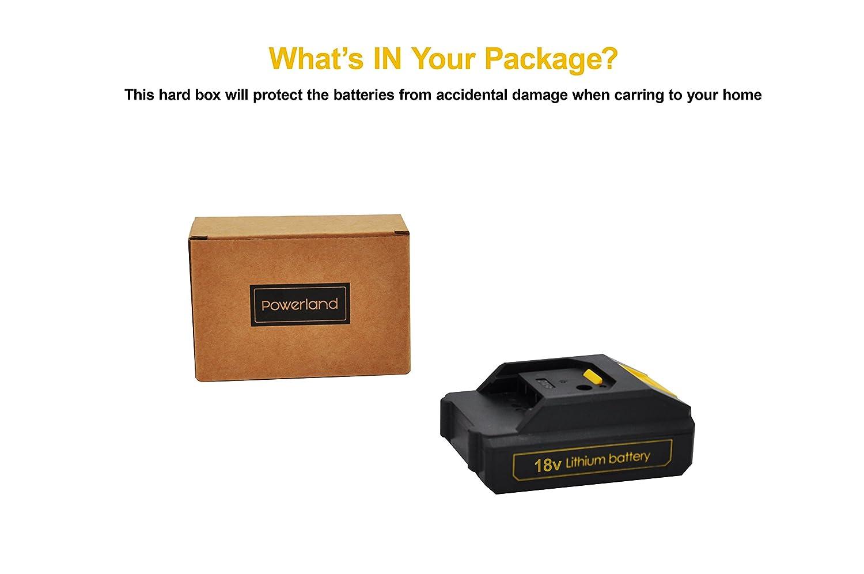 Powerland 1300mAh Replacement Li-on Battery For Cordless Drill Driver D018 12V 16V 20V 18V//20V /…/…/… /…