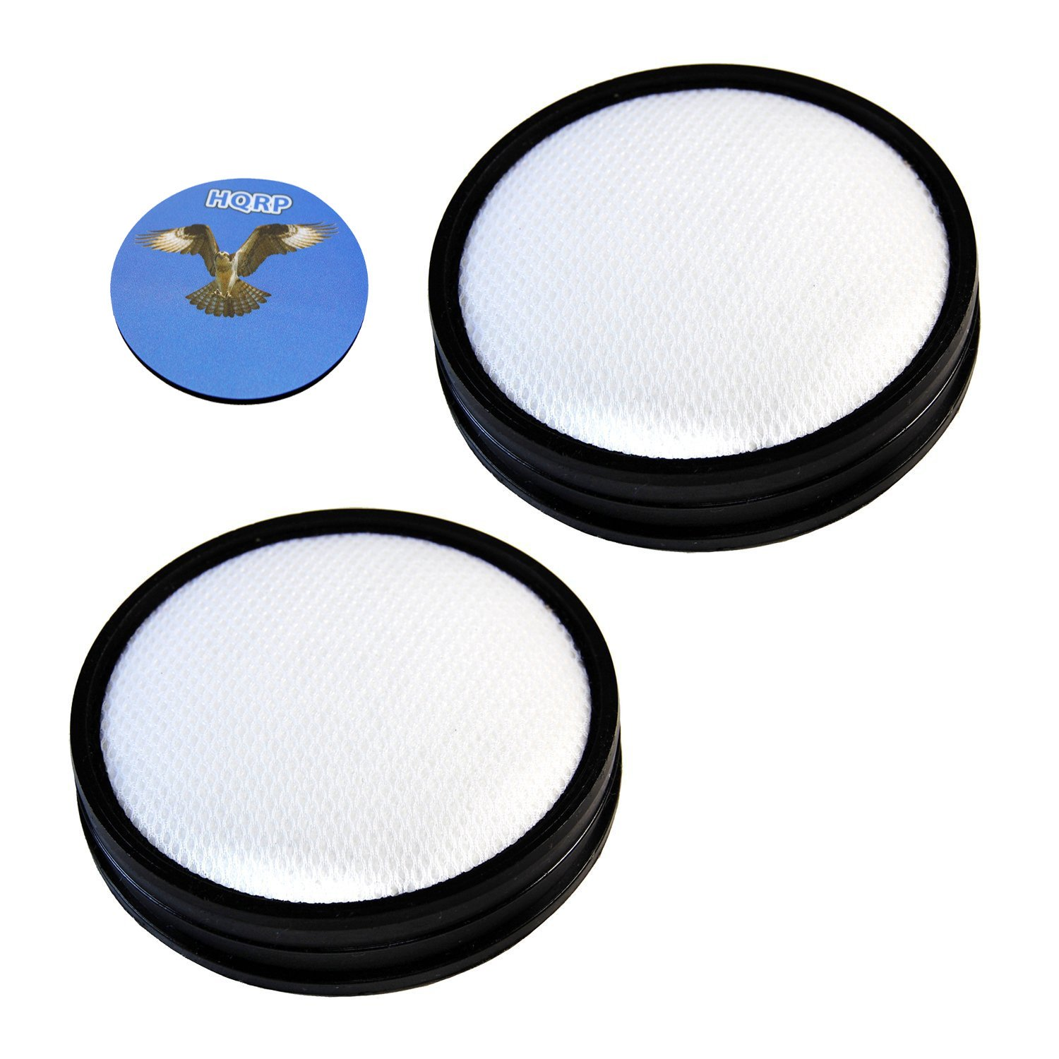 HQRP 2- Pack Washable Primary Filters for Hoover UH70931PC WindTunnel 3 Pro Pet Bagless Upright Plus Coaster