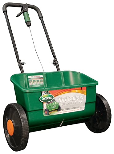 best fertilizer spreader - Scotts Turf Builder Classic Drop Spreader, (Up to 10,000-sq ft)