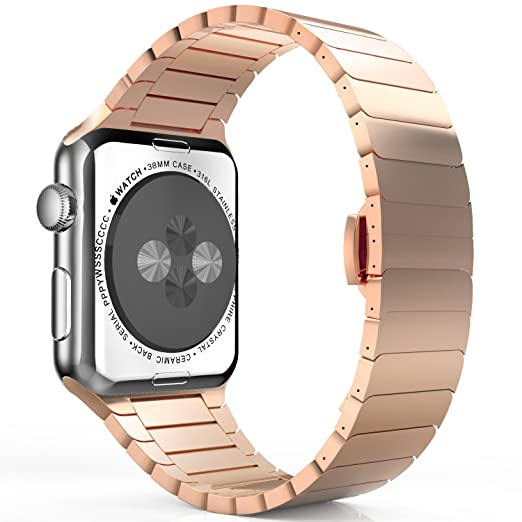 52 opinioni per MoKo Cinturino per Apple Watch 42mm, Braccialetto in Acciaio Inossidabile con