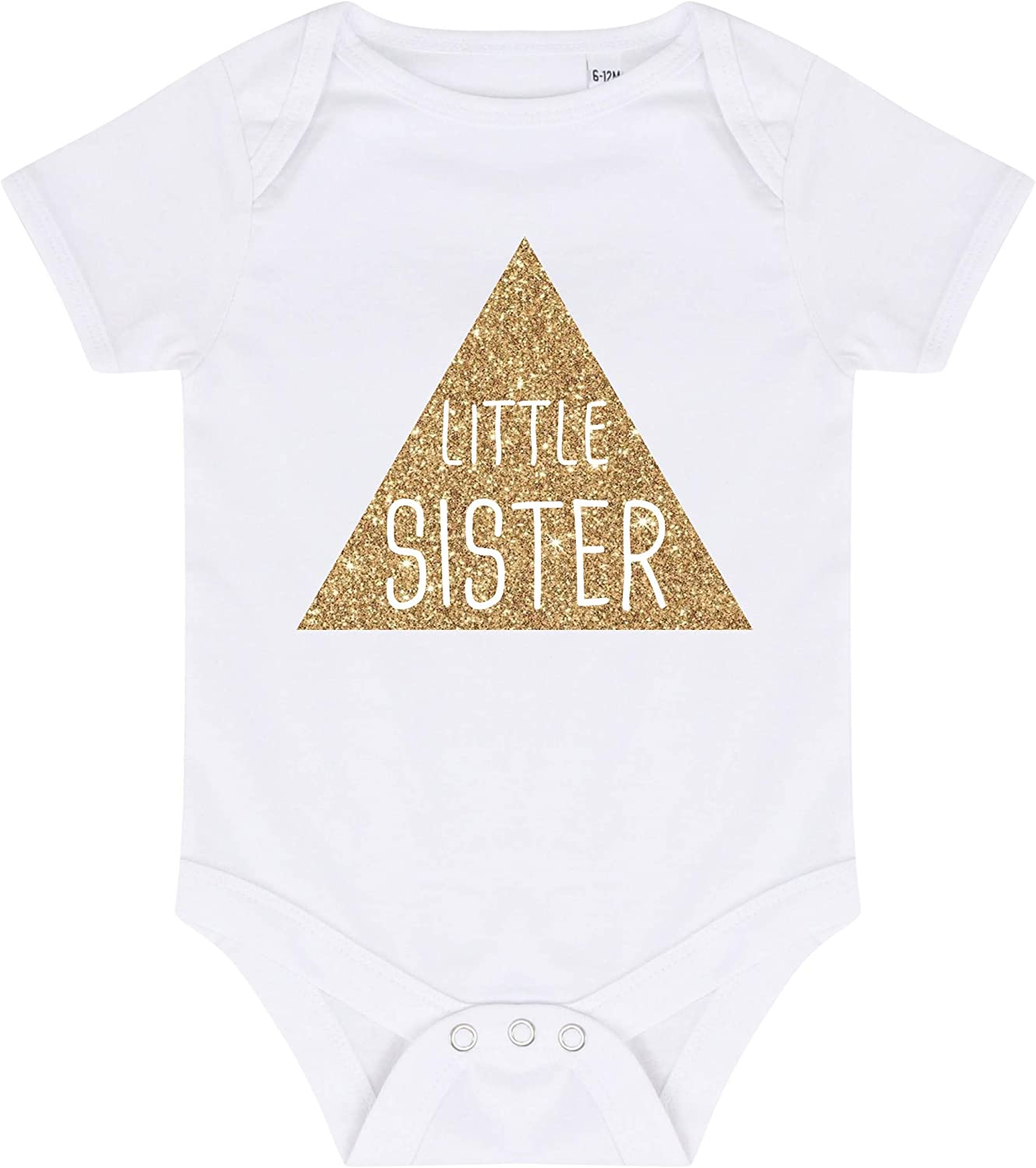 Direct 23 Ltd Gold Glitter Triangle Big /& Little Sister T-Shirts /& Bodysuits