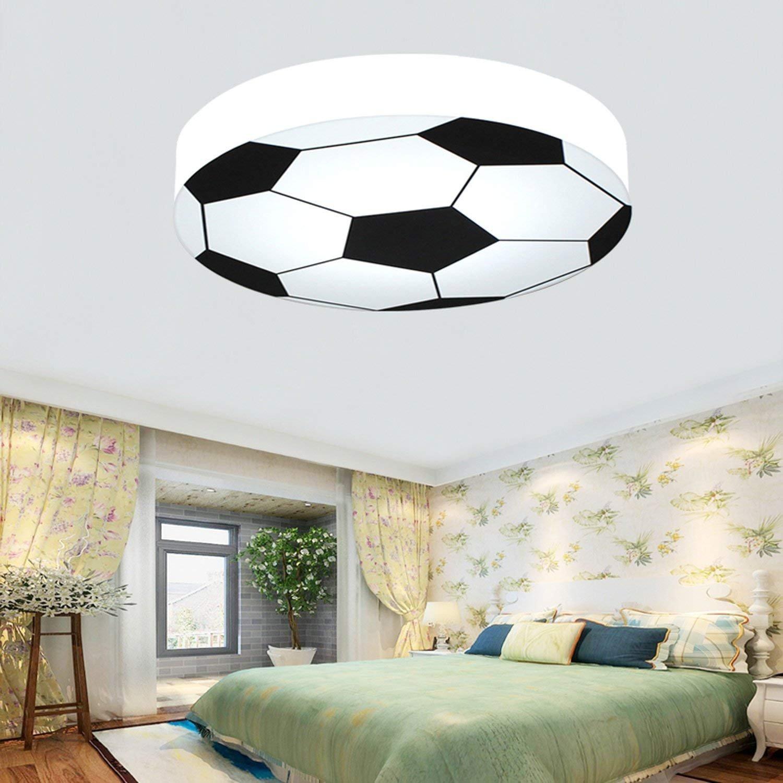 Kinderzimmer Licht kreativ Fußball Deckenleuchte moderne LED-junge Mädchen Augenschutz Deckenleuchte E27 Wohnzimmer Schlafzimmer Kindergarten Dekoration Licht (weiß)  56 cm