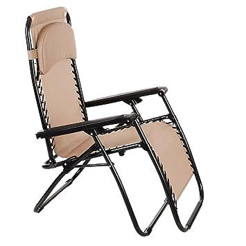 tumbona plegable silla reclinable con y reposapis de acero inoxidable para jardn