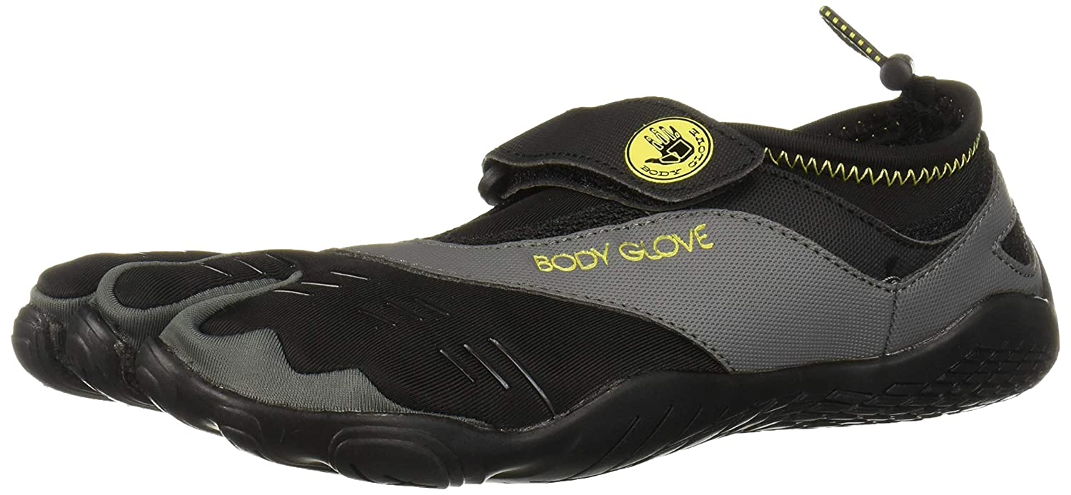 Body Glove Barefoot 3t Water Shoes Men Size 11 Black And Yellow Fins, Footwear & Gloves