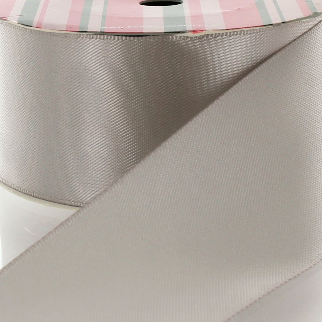 3'' Silver Double Faced Satin Ribbon 25yd