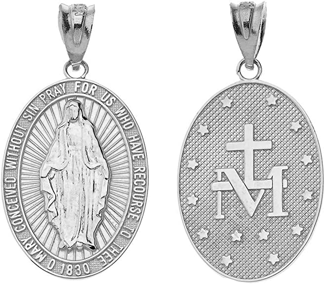 VIRGIN MARY MADONNA CATHOLIC 3D CHARM 925 STERLING SILVER