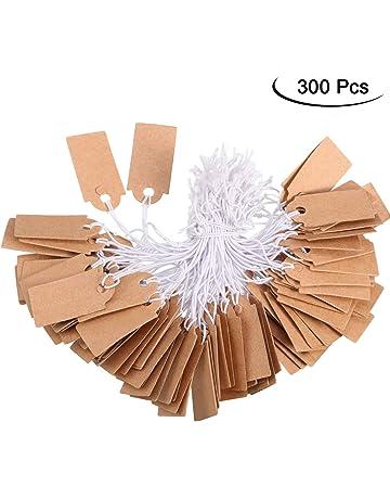Lot de 100 /étiquettes vierges /à suspendre pour mariage en papier kraft free size blanc cadeau