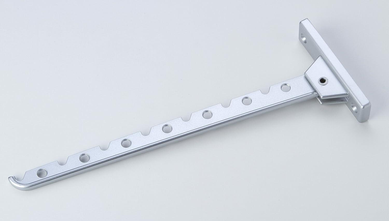 Haken Klapphaken Kleiderlü fter Aluminium silber Lä nge 310mm young schwinn DESIGN GmbH