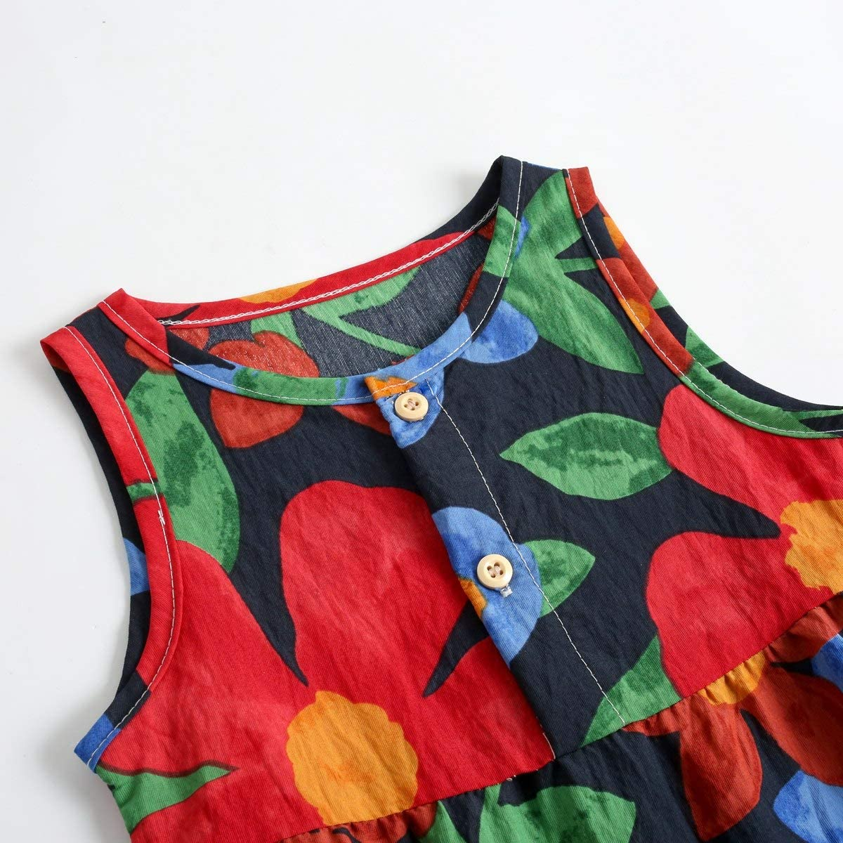 Sanlutoz Neonato Baby Summer Pagliaccetto Fiori Cotone Vestiti per Bambini per Ragazze Senza Maniche Moda