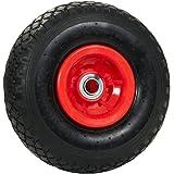 pro-bau-tec PU Ersatzrad schlauchlos pannenfrei für Sackkarre mit Montagematerial, rot, 11840