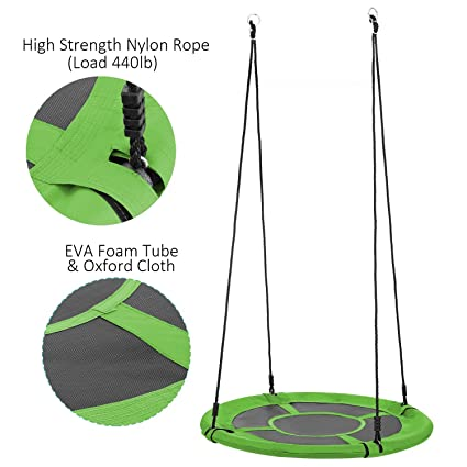 Amazon Com Moroly Tree Swing Disc Rope Swing Round Jungle Gym Swing