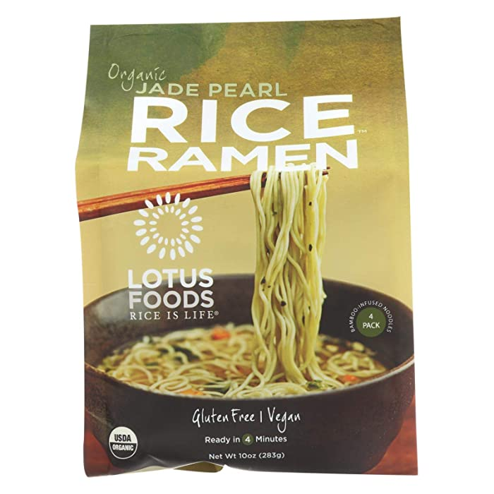 Lotus Foods Organic Jade Pearl Rice Ramen, 10 Ounce (Pack of 6)