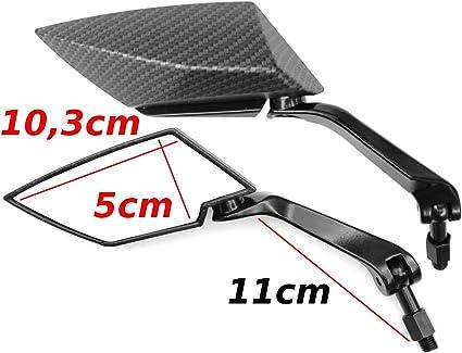 Rückspiegel Spiegel Set Kompatibel Mit Peugeo T Speedfight 2 3 4 Iceblade Darkside V30 Auto