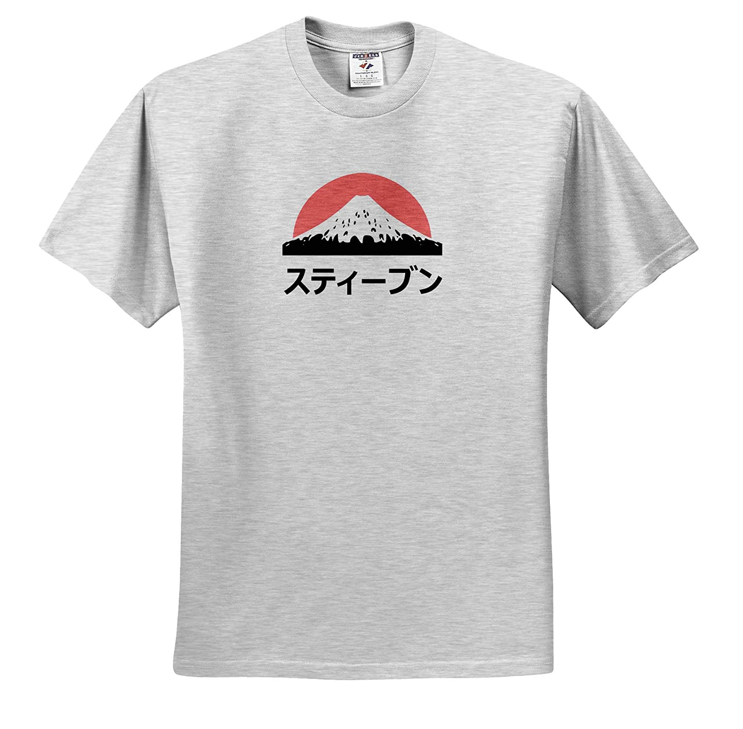 3dRose InspirationzStore Steven or Stephen in Japanese Letters Name in Japanese Adult T-Shirt XL ts/_320630