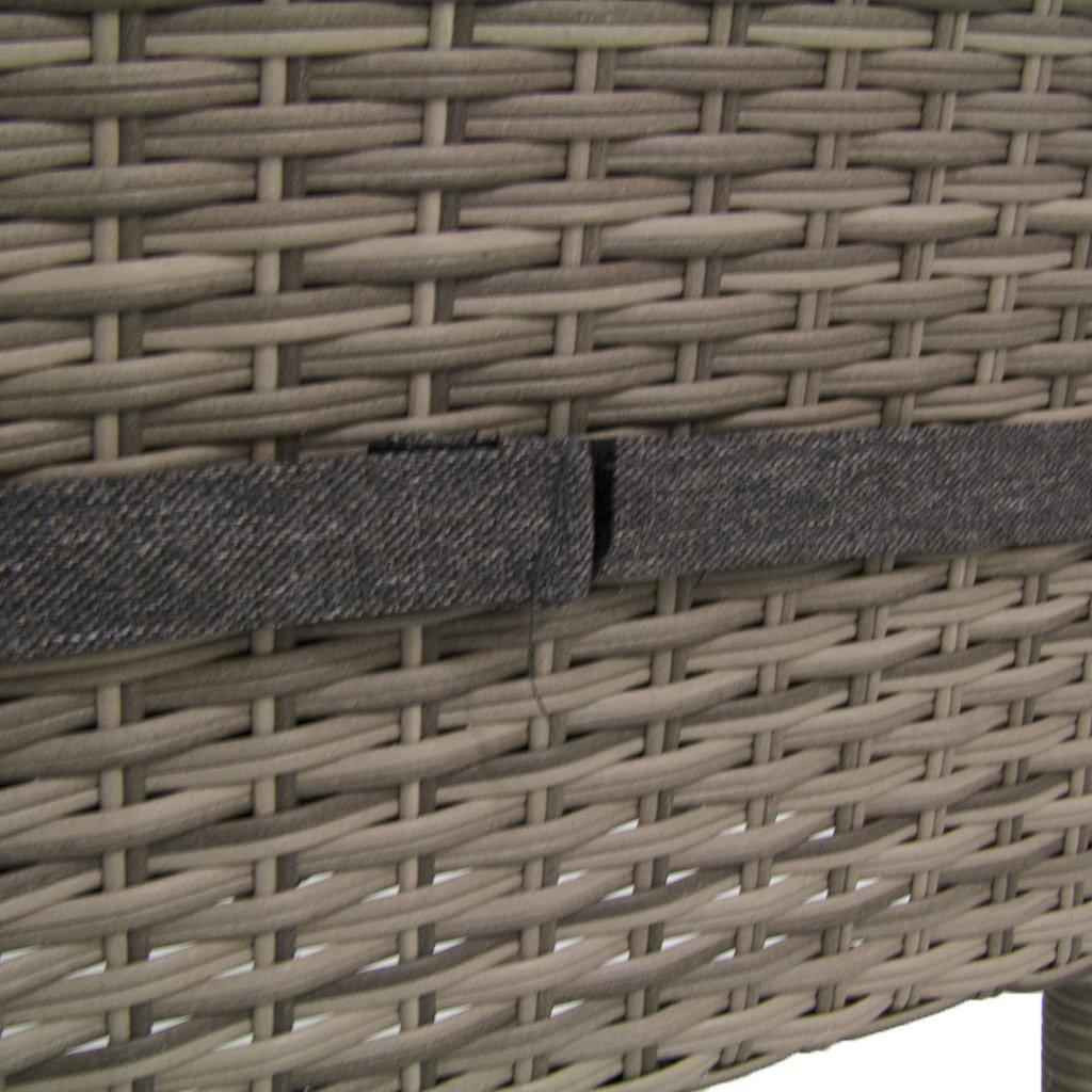Pack 2 sillas para jardín apilables | Tamaño: 45x55x87 cm | Aluminio y rattán sintético Color Gris | Cojín Antracita | Portes Gratis: Amazon.es: Jardín