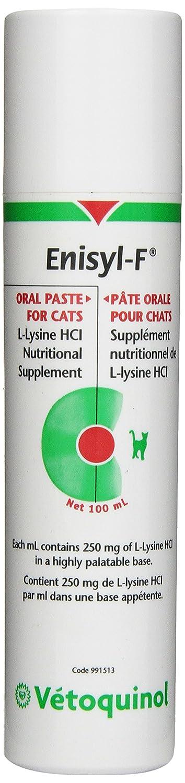 Vetoquinol Enisyl-F Oral Paste For Cats, L-Lysine HCI Nutritional Supplement 100 ml Vetoquinol* 001VET-100