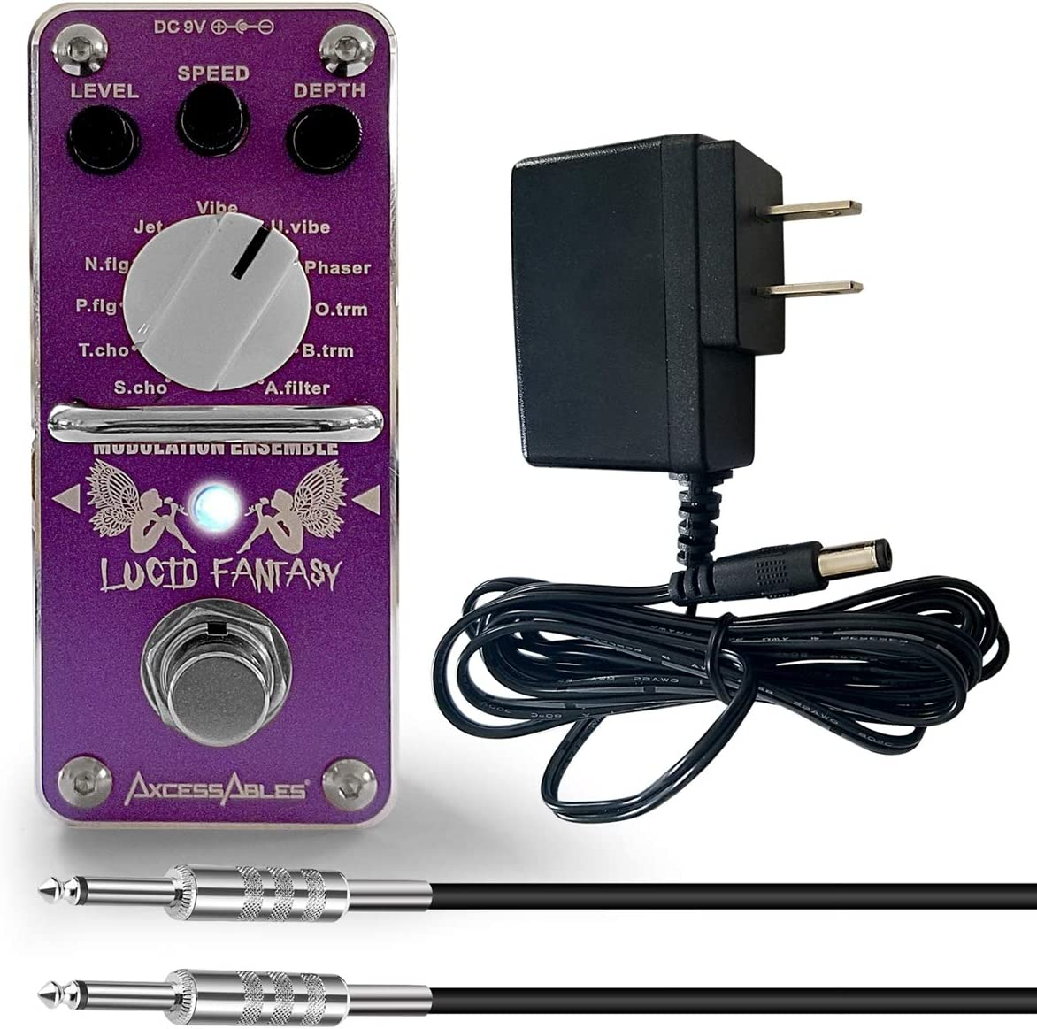 """Black Mooer 1//4/"""" AC Series mono 2/"""" patch lead//cable ang-ang"""