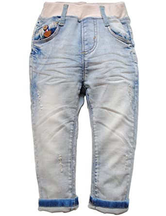 Amazon.com: 3864 primavera bebé niños jeans suave mezclilla ...